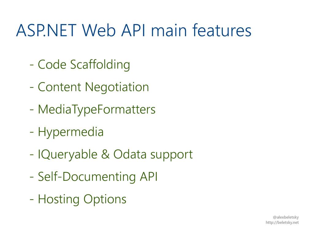 @alexbeletsky http://beletsky.net ASP.NET Web A...