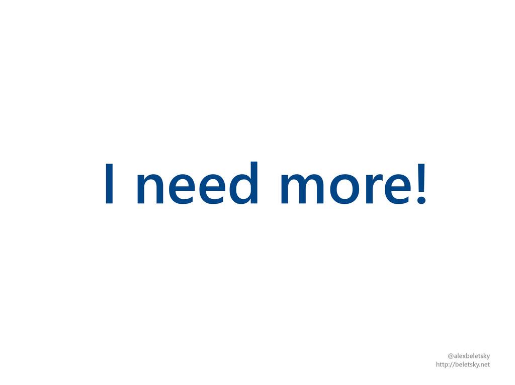 @alexbeletsky http://beletsky.net I need more!