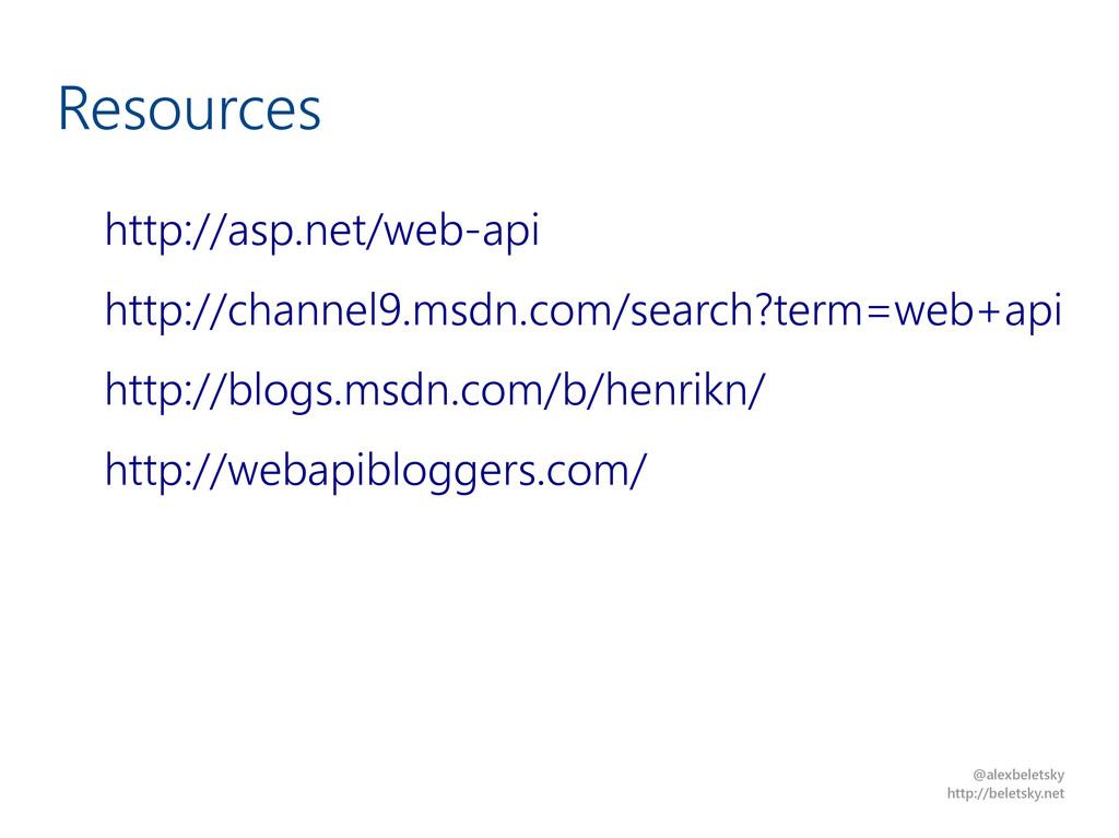 @alexbeletsky http://beletsky.net Resources htt...