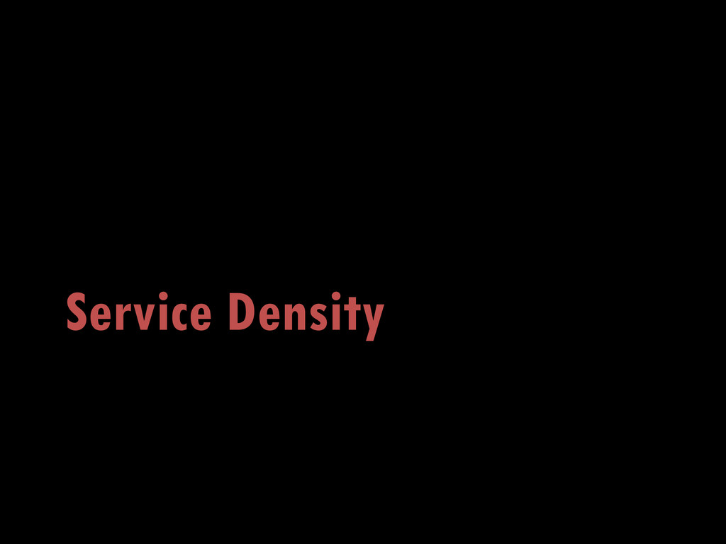 Service Density