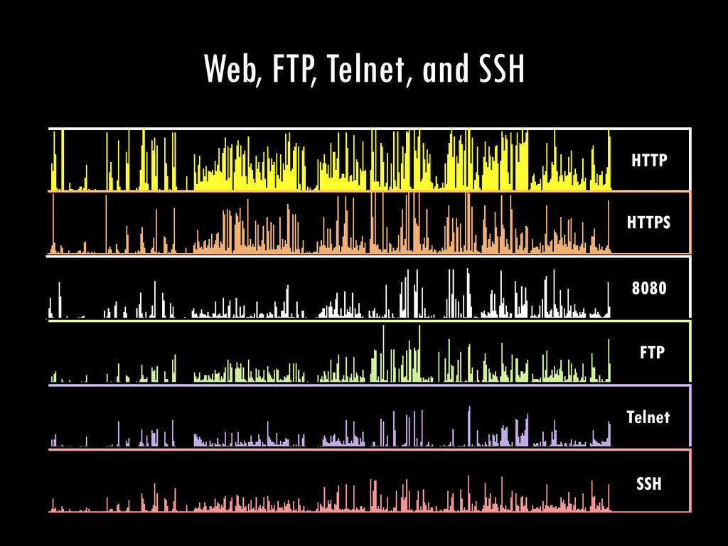 Web, FTP, Telnet, and SSH SSH Telnet FTP 8080 H...