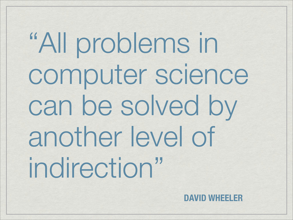 """""""All problems in computer science can be solved..."""
