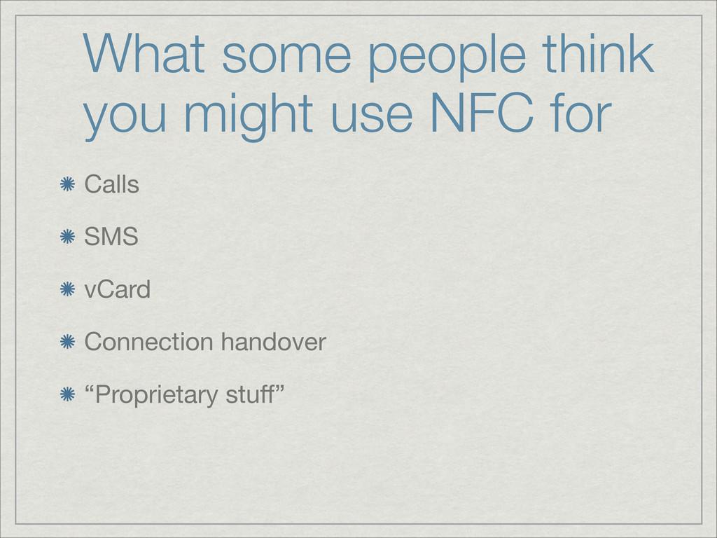 """Calls SMS vCard Connection handover """"Proprietar..."""