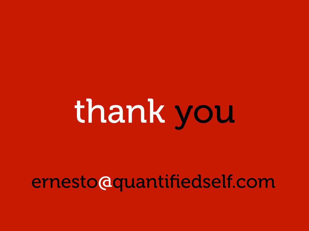 thank you ernesto@quantifiedself.com