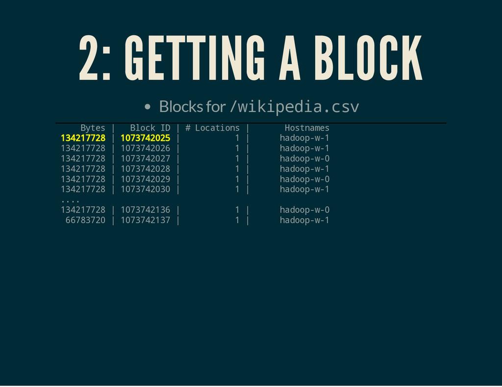 2: GETTING A BLOCK Blocks for / w i k i p e d i...