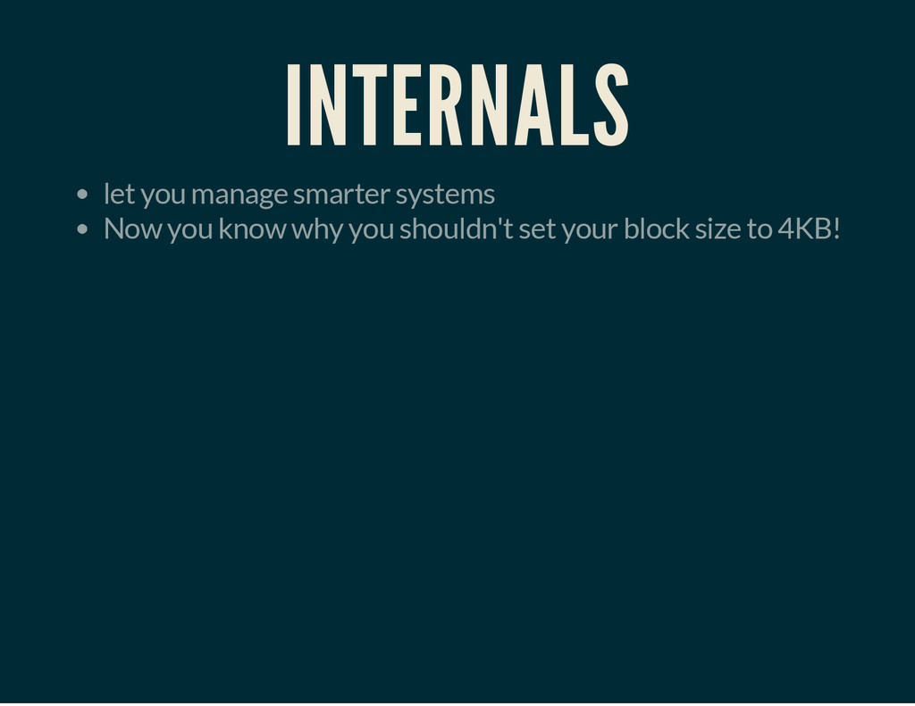 INTERNALS let you manage smarter systems Now yo...
