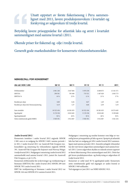 03 Finansiell rapport 2. kvartal og første halv...