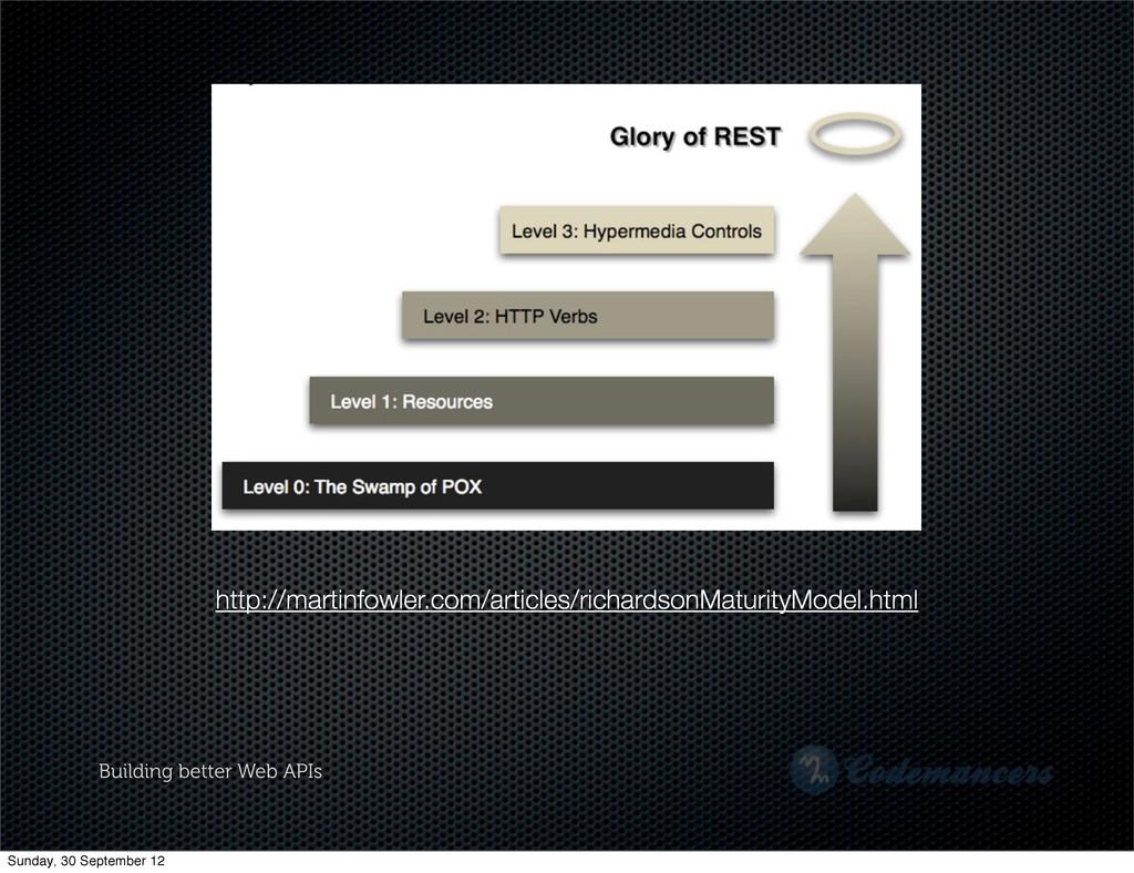 Building better Web APIs http://martinfowler.co...