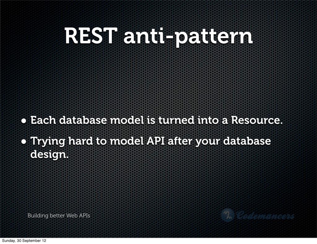 Building better Web APIs REST anti-pattern • Ea...