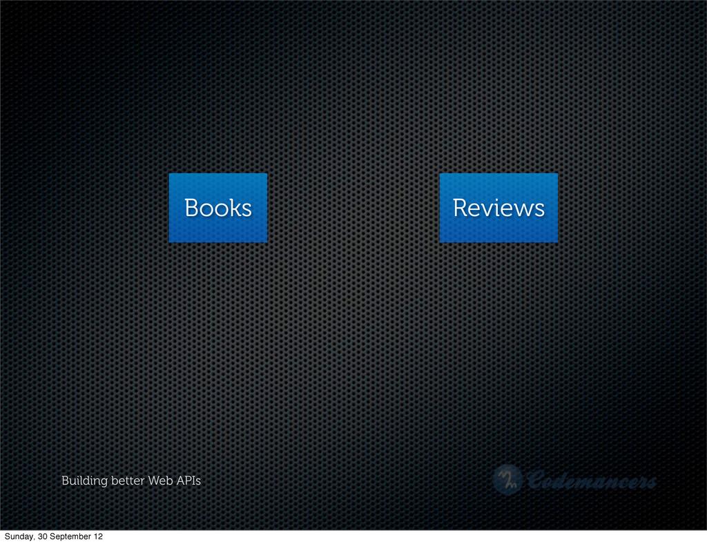 Building better Web APIs Books Reviews Sunday, ...