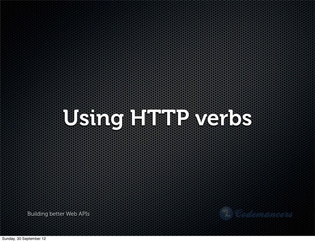 Building better Web APIs Using HTTP verbs Sunda...