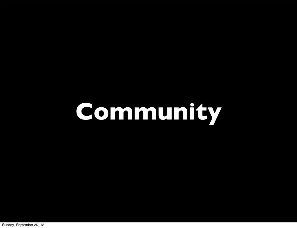 Community Sunday, September 30, 12