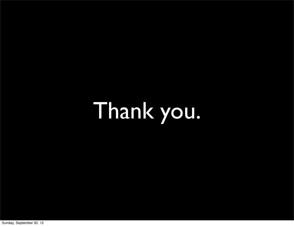 Thank you. Sunday, September 30, 12