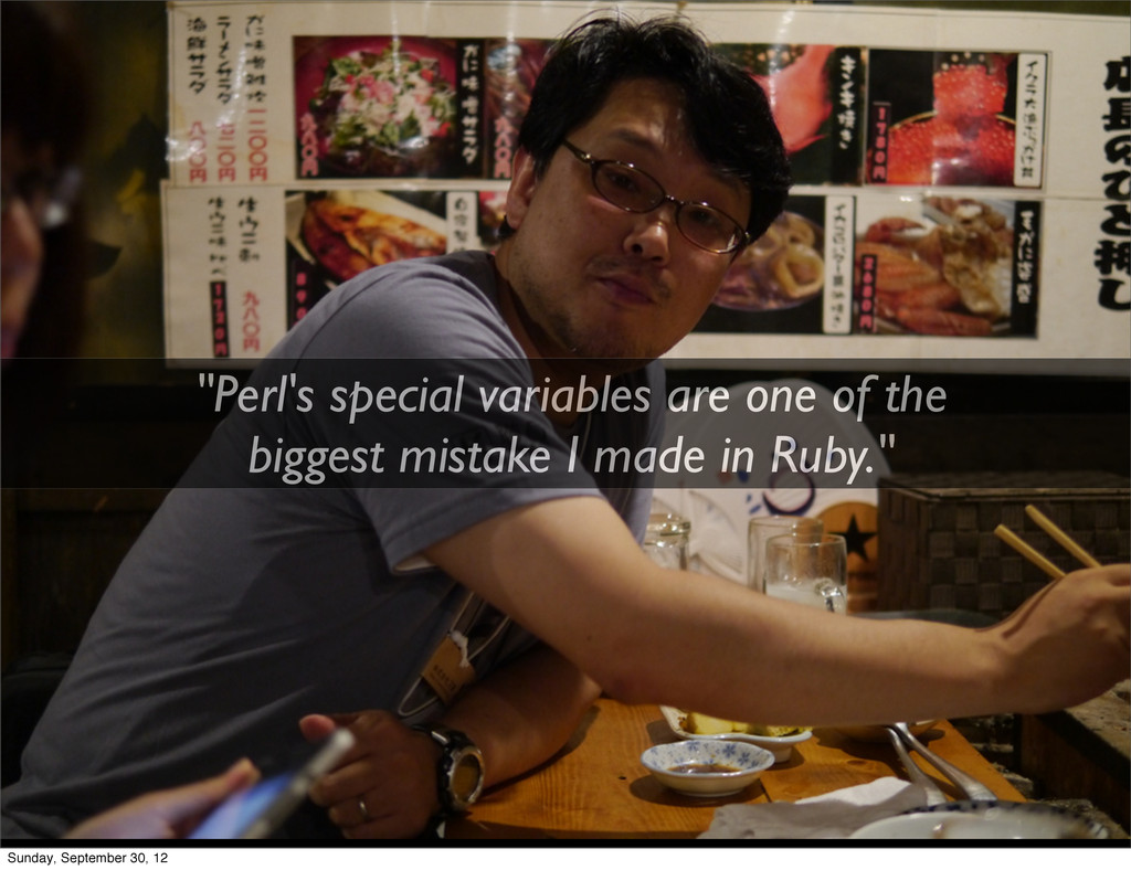 """""""Perl's special variables are one of the bigges..."""