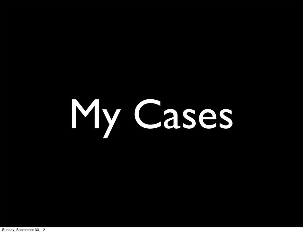 My Cases Sunday, September 30, 12