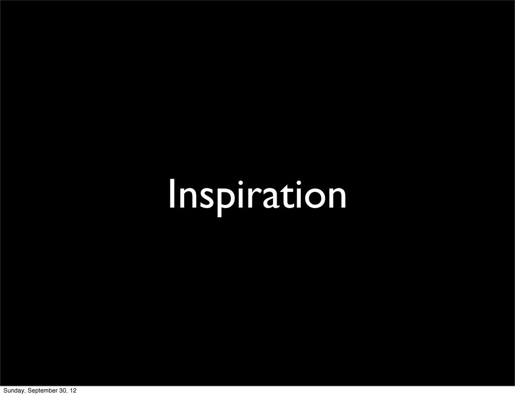 Inspiration Sunday, September 30, 12