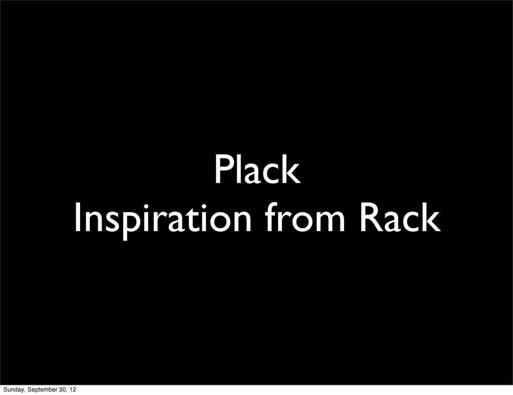 Plack Inspiration from Rack Sunday, September 3...