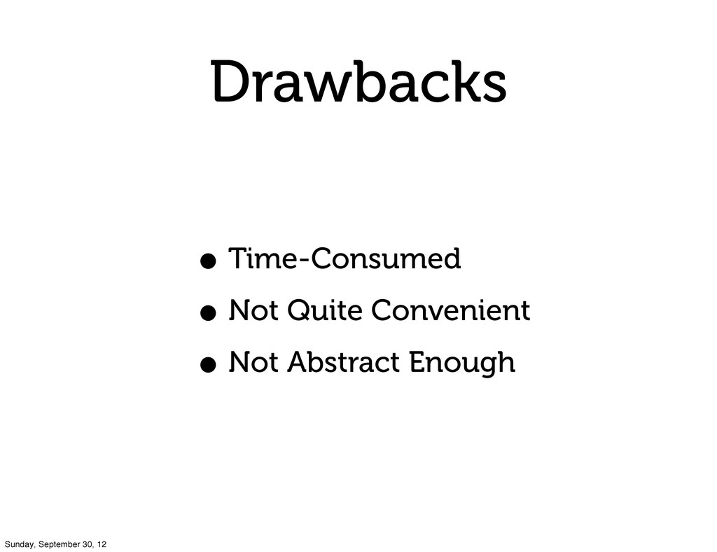 Drawbacks • Time-Consumed • Not Quite Convenien...