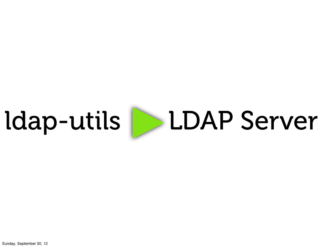 ldap-utils LDAP Server Sunday, September 30, 12