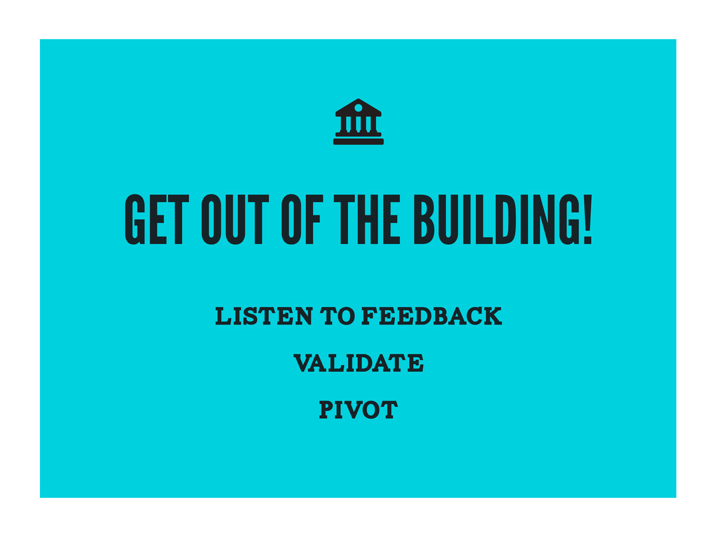 GET OUT OF THE BUILDING! LISTEN TO FEEDBACK V A...