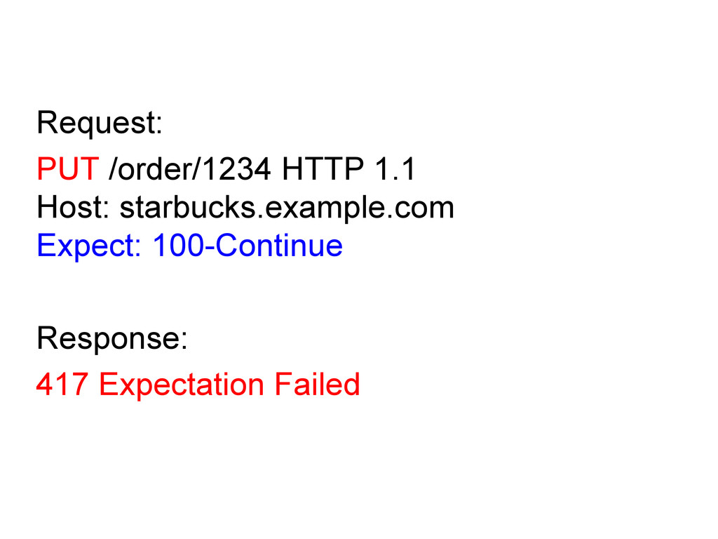 Request: PUT /order/1234 HTTP 1.1 Host: starbuc...