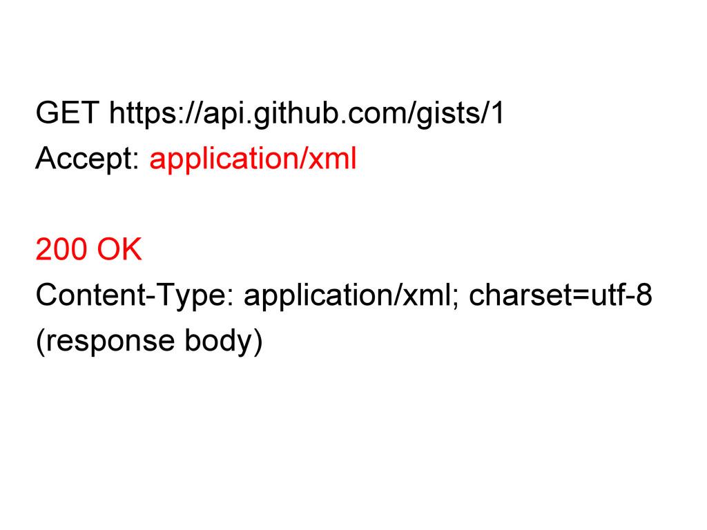 GET https://api.github.com/gists/1 Accept: appl...