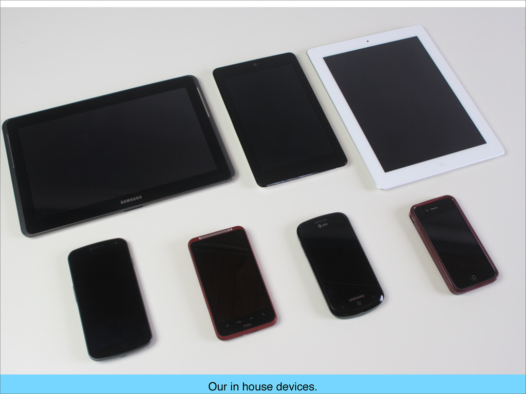 Our in house devices.