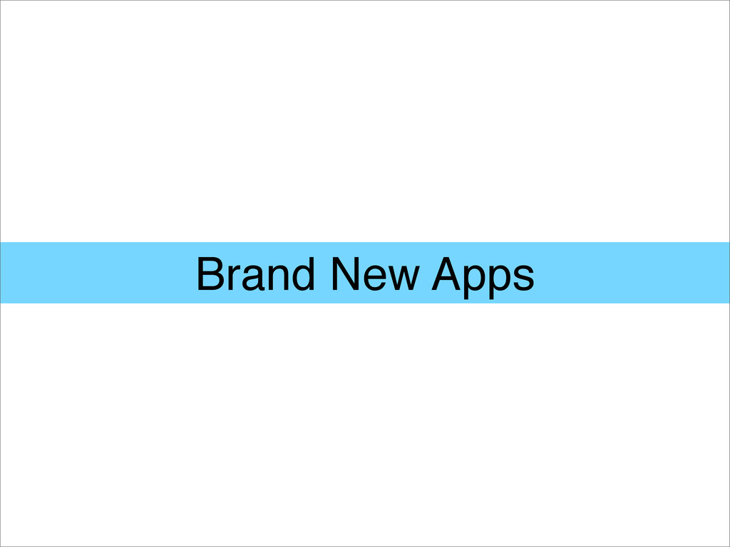 Brand New Apps