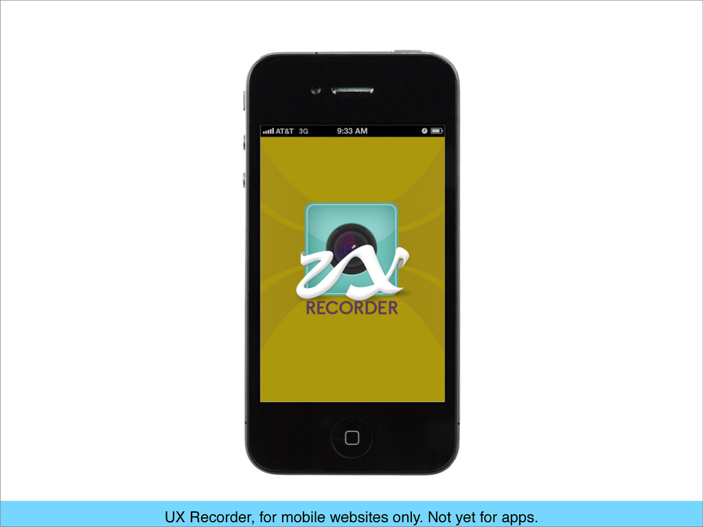 UX Recorder, for mobile websites only. Not yet ...