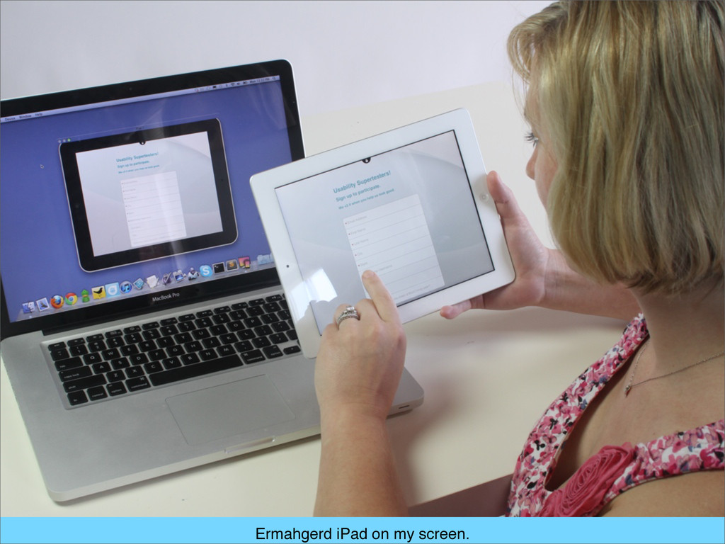 Ermahgerd iPad on my screen.