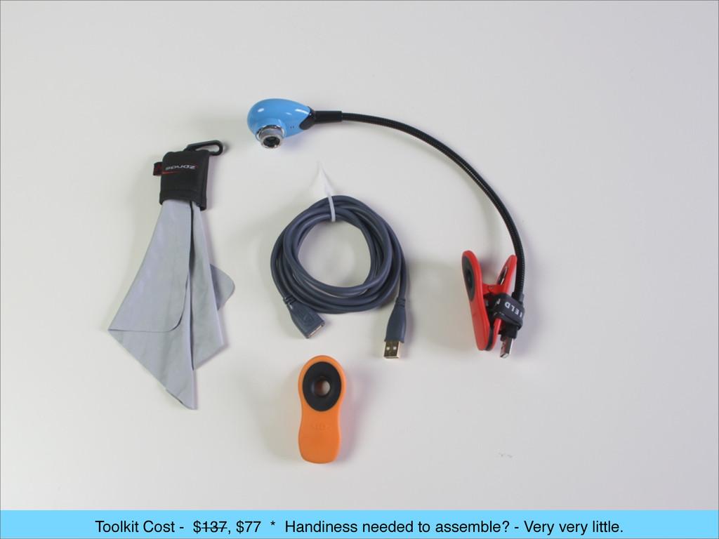 Toolkit Cost - $137, $77 * Handiness needed to ...