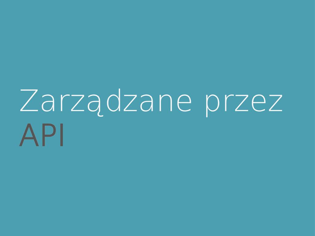 Zarządzane przez API