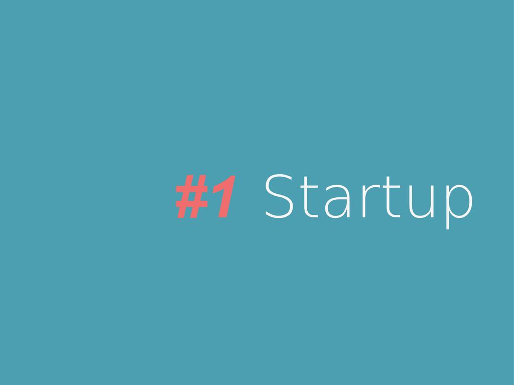 #1 Startup