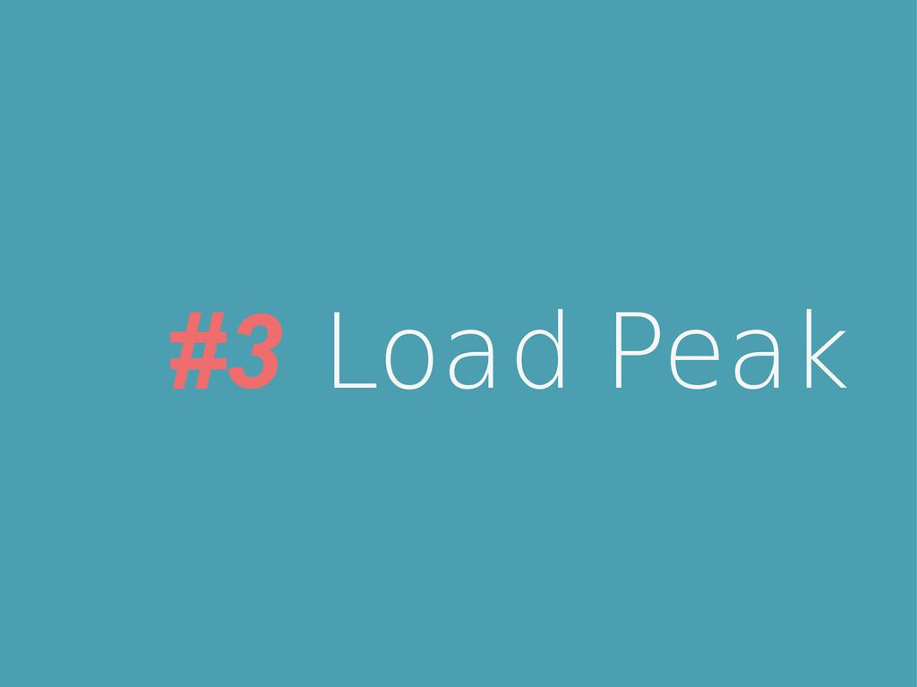 #3 Load Peak