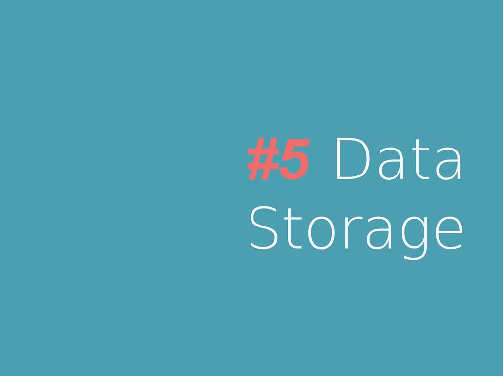 #5 Data Storage