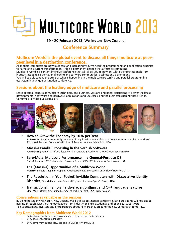 19 – 20 February 2013. Wellington, New Zealand ...