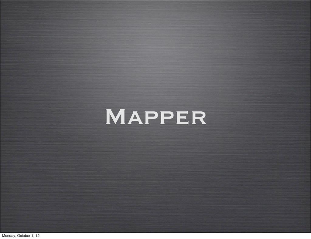 Mapper Monday, October 1, 12