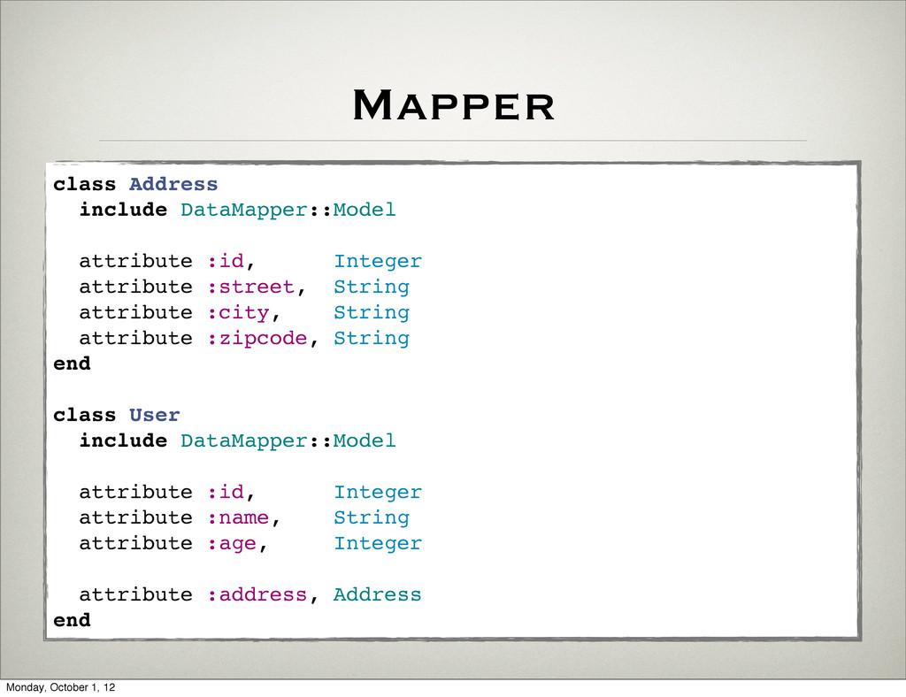 Mapper class Address include DataMapper::Model ...