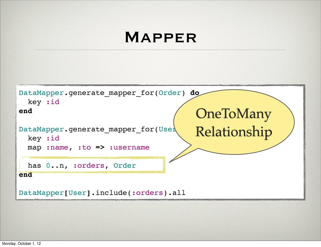 Mapper DataMapper.generate_mapper_for(Order) do...