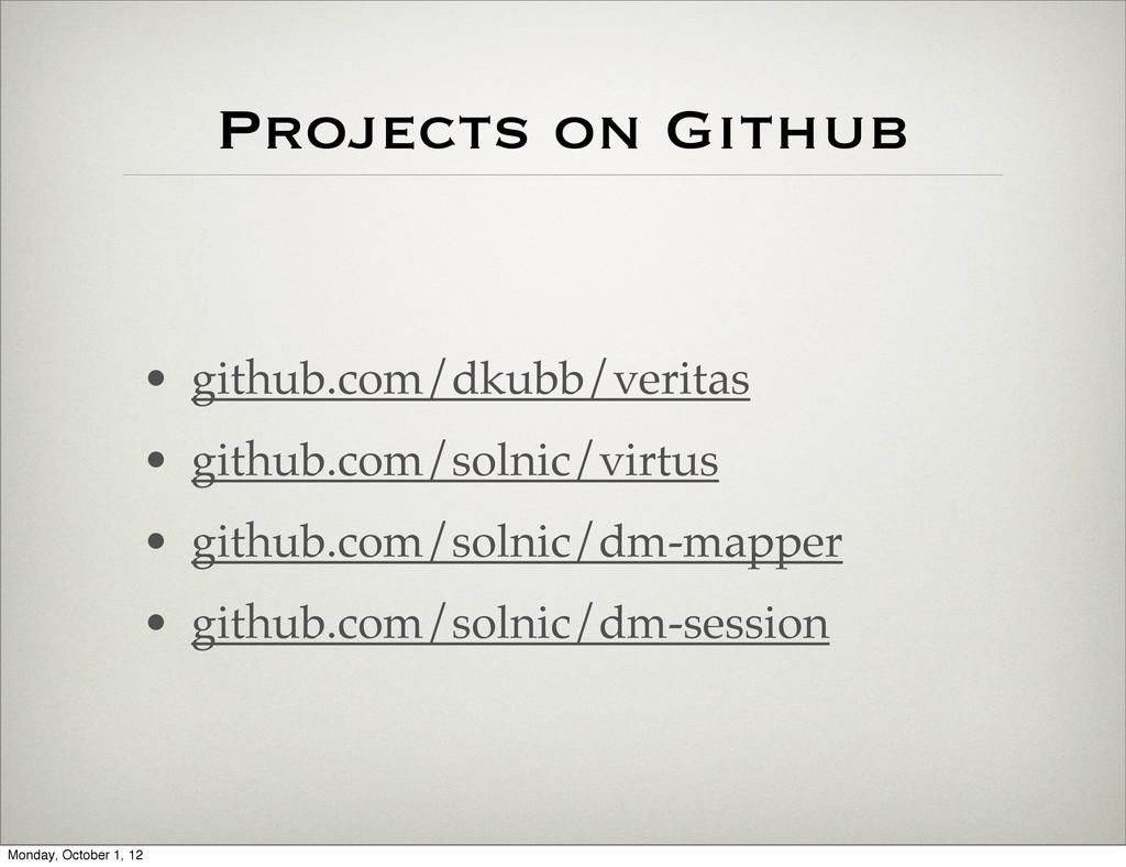 Projects on Github • github.com/dkubb/veritas •...