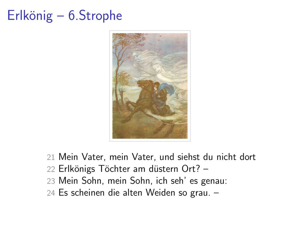 Erlk¨ onig – 6.Strophe 21 Mein Vater, mein Vate...