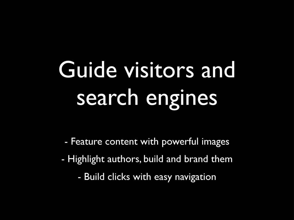 Guide visitors and search engines - Feature con...