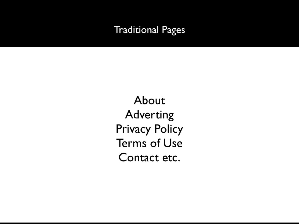 Traditional Pages About Adverting Privacy Polic...