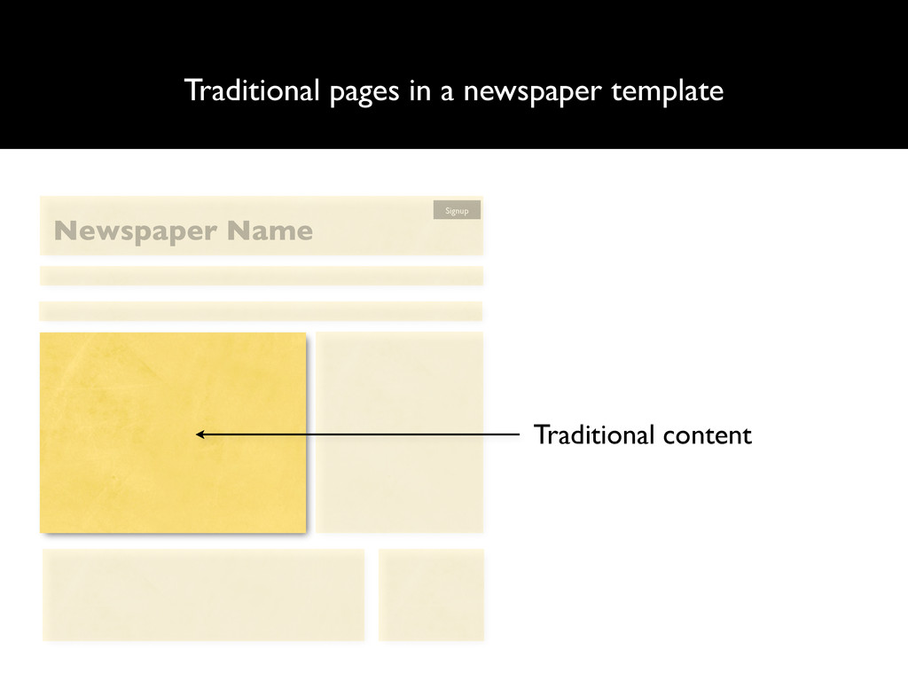 Traditional pages in a newspaper template Tradi...