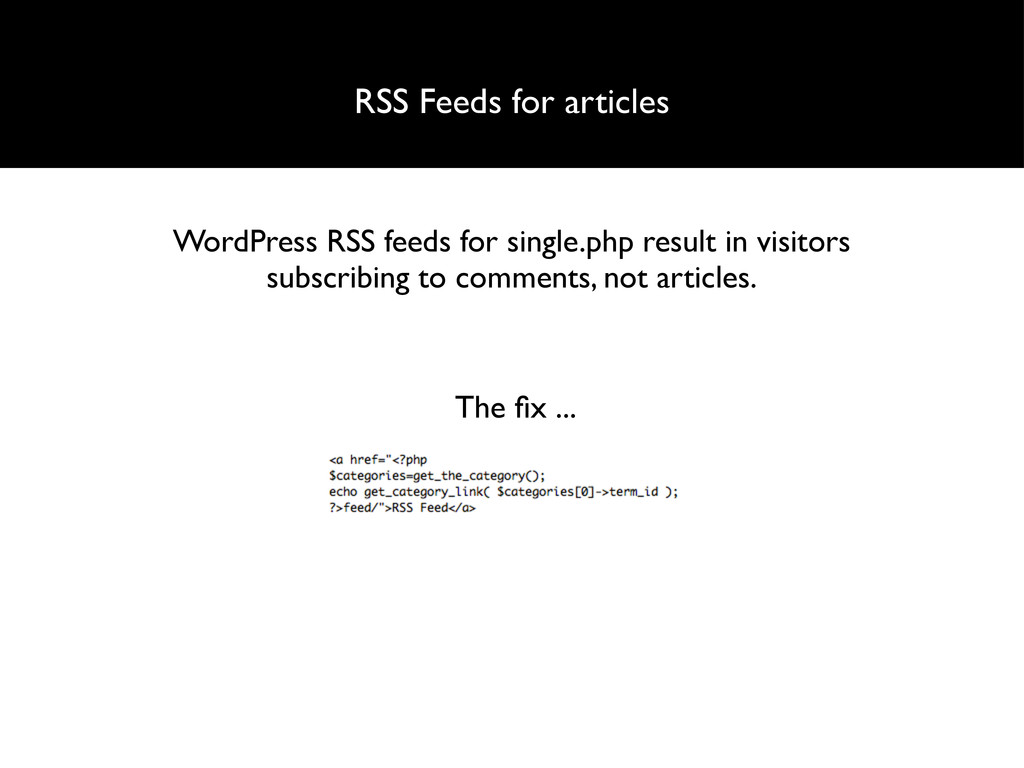 RSS Feeds for articles WordPress RSS feeds for ...