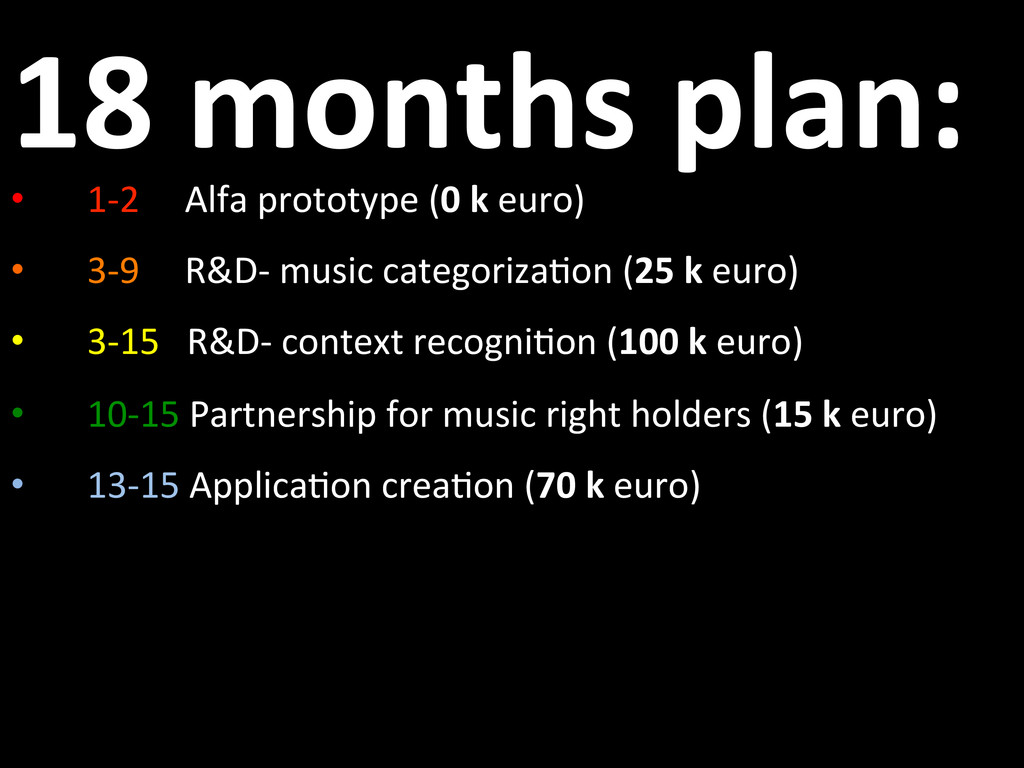 18 months plan:  • 1-‐2   ...