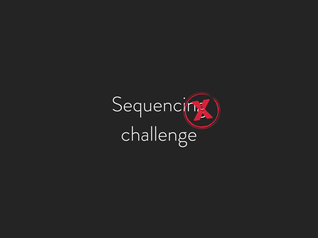 Sequencing challenge X