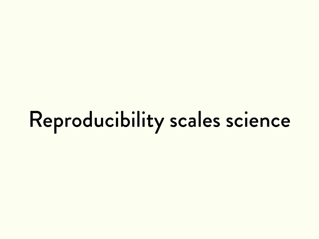 Reproducibility scales science