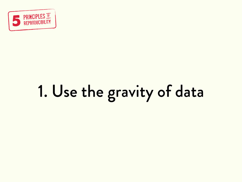 1. Use the gravity of data 5 PRINCIPLES REPRODU...