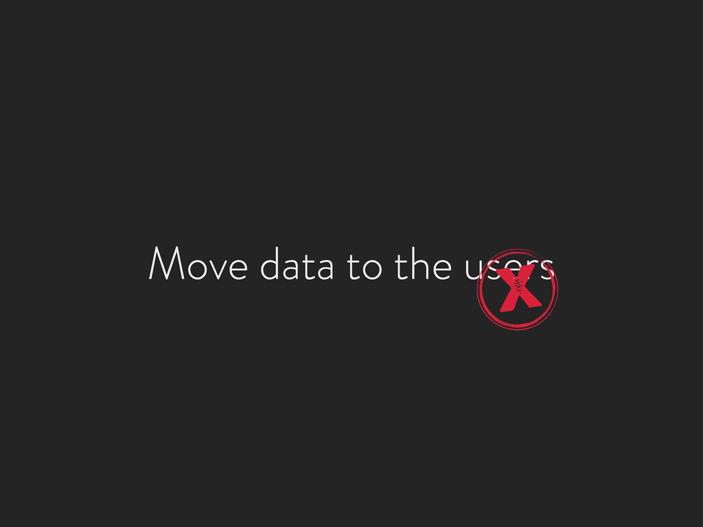 Move data to the users X